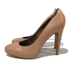 Sam Edelman Yasmine Nude Leather Pump High Heels